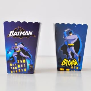 Кутийки за пуканки или сладки Батман - 8 бр. в пакет