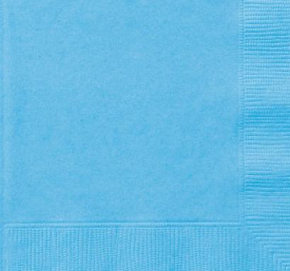 Парти салфетки светло сини, 20 бр в пакет