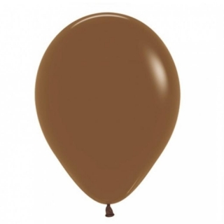 Балон  цвят кафе карамел пастел, диаметър 30 см, 10 бр. в пакет