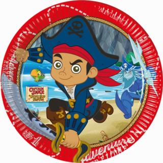 Хартиена парти чинийка Капитан Джейк Пират / Jake Captain, 19,5 см. диаметър, 8 бр. в опаковка /Gd/