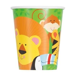 Хартиена парти чашка Животни Джунгла 250 мл, Animal Jungle