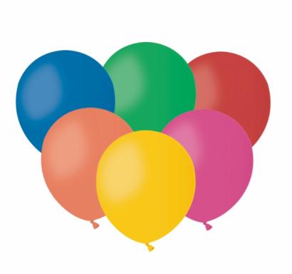 Балон микс пастелни цветове, диаметър 13 см, 10 бр. в пакет