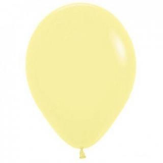 Балон светло жълт пастел, диаметър 30 см, 10 бр. в пакет