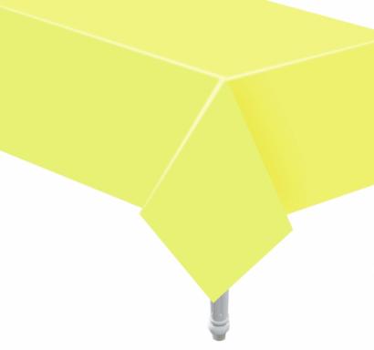Хартиена покривка за еднократна употреба, цвят светло жълт 132х183 см