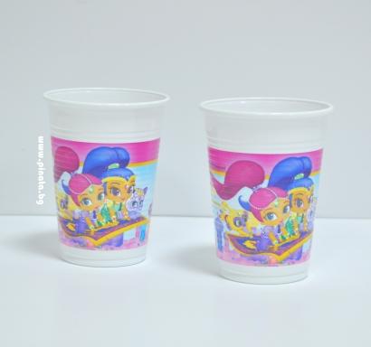Пластмасова парти чашка Искрица и Сияйница /Шимър и Шайн/  200 мл, лицензирана