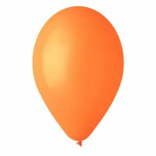 Балон оранжев пастел, диаметър 30 см, 10 бр. в пакет
