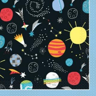 Парти салфетки Космос 16 бр в пакет, Outer Space