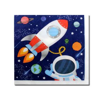 Парти салфетки Космос 33х33 см лицензирани