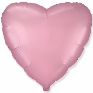 Фолиев балон Сърце, цвят розов сатен 46 см /Gd/