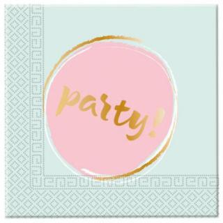 Парти салфетки Парти / Elegant Party 33х33 см, 20бр. в пакет /Gd/