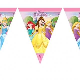 Банер гирлянд за декорация Принцесите на Дисни, 3,20 м дължина, 11 бр. флагчета
