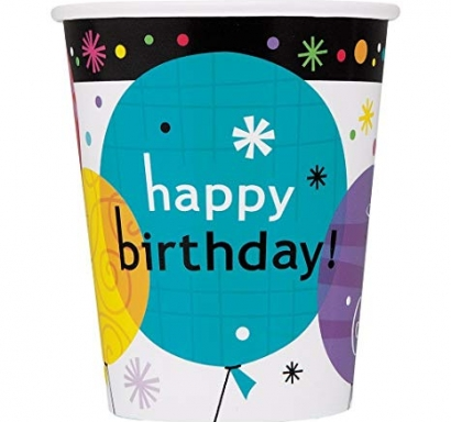Хартиена парти чашка Рожден ден 250 мл, Breezy Birthday