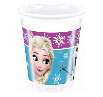 Пластмасова парти чашка Елза и Ана Замръзналото Кралство 200 мл, 8 бр. в опаковка лицензирана Дисни /Gd/