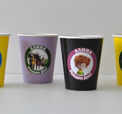 Персонализирана хартиена парти чашка 270 мл Хотел Трансилвания