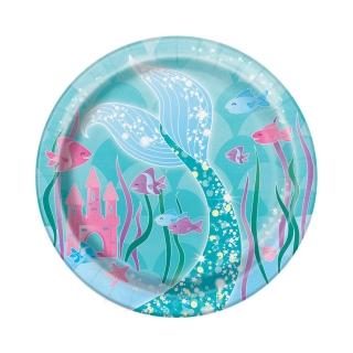 Хартиена парти чинийка Русалка 18 см, Mermaid