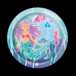 Хартиена парти чинийка Русалка 23 см / Mermaid