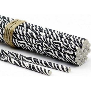 Сламки зебра, 25 бр. в опаковка
