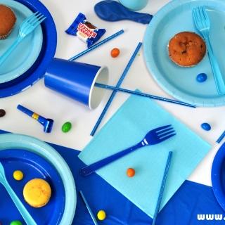 Парти пакет в синьо за 10 празнуващи