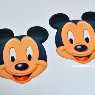 Парти маска Мики Маус, 6 бр. пакет