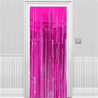 Ресни за декорация  /ПВЦ/ лъскави, цвят циклама, 100х220см