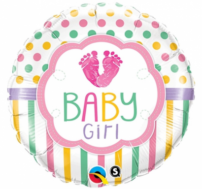 Фолиев балон Бебе момиче / Baby Girl, 46 см лиценз Qualatex /Gd/
