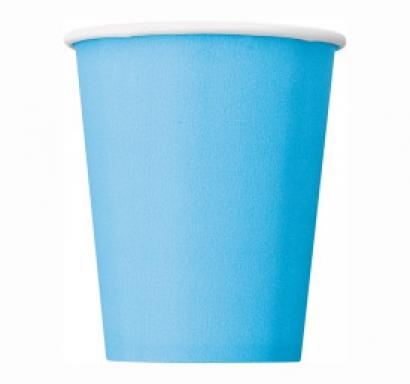 Хартиена парти чашка светло синя 250 мл, 14 бр. в опаковка
