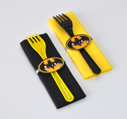 Парти комплект салфетка и вилица Батман