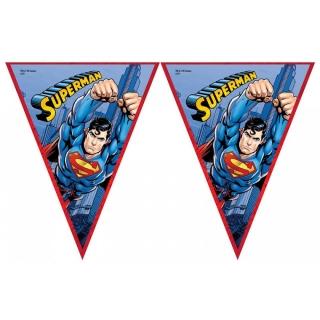 Банер гирлянд за декорация Супермен, 3,20 м дължина, 11 бр. флагчета