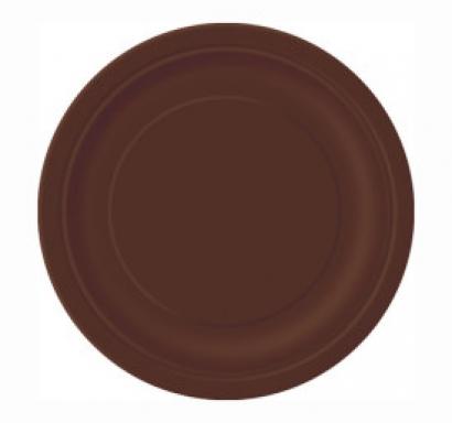 Хартиена парти чинийка кафява, 18 см