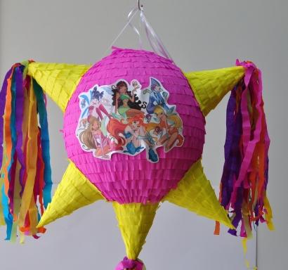 Пинята с конуси фигура Уинкс, 60х60см