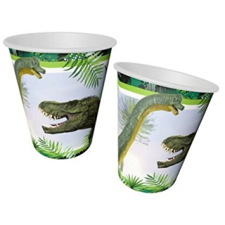 Хартиена парти чашка 250 мл Динозаври Джурасик / Jurassik Dinosaur, 8 бр. в опаковка