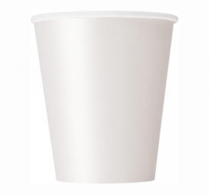 Хартиена парти чашка бяла 250 мл