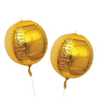 Фолиев балон златен 45х45 см, 2 бр. в пакет