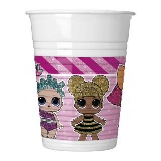 Пластмасова парти чашка Лол Сърпрайс 200 мл, лицензирана