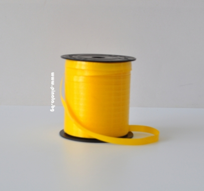 Лента за връзване на балони жълта /10 метра/
