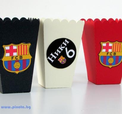 Персонализирана кутийка за пуканки Барселона