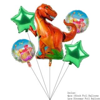 """Луксозен к-кт балони """"Динозаври"""", 5бр. в опаковка"""