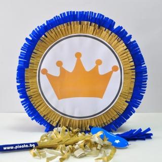 Пинята Златна Корона, две лица 40х40 см