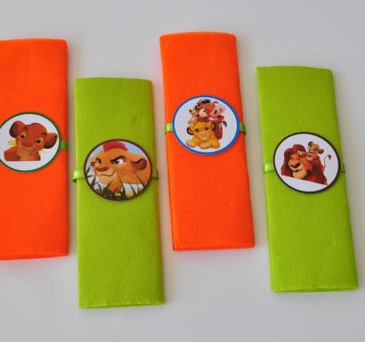 Парти салфетки Цар Лъв 33х33 см, 5 бр. пакет