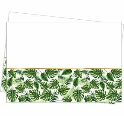 Парти покривка Зелени листа със злато, 120х180 см