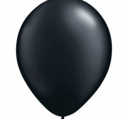 Балон черно пастел, диаметър 30 см, 10 бр. в пакет