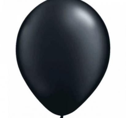 Балон черен пастел, диаметър 30 см, 10 бр. в пакет