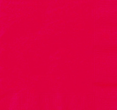 Парти салфетки червени, 20 бр в пакет