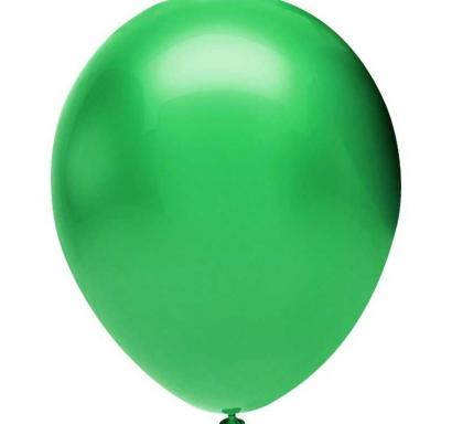 Балон зелено металик, диаметър 30 см, 10 бр. в пакет