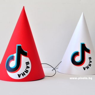 Персонализирана парти шапка Тик Ток