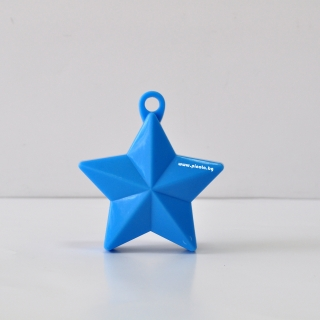 Тежест за балони - синя звезда