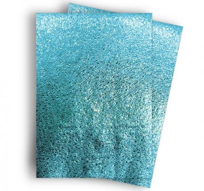 Покривка за еднократна употреба релефна - метализиран гланц, цвят синьо 120х180 см