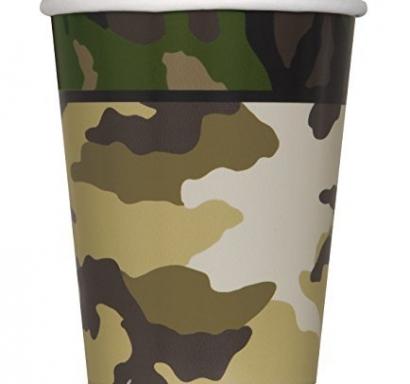 Хартиена парти чашка Камуфлаж военни 250 мл, Military Camo