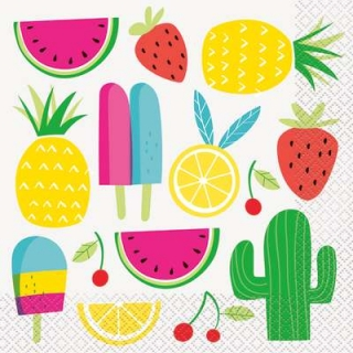 Парти салфетки Лятно парти плодове 16 бр в пакет, Sweet & Succulent