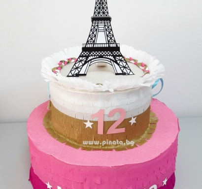 Пинята торта Париж Айфелова Кула / Pinata Paris Eiffel Tower